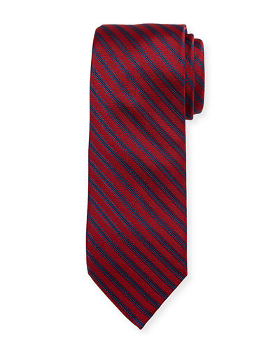 Boxed Striped Silk Tie