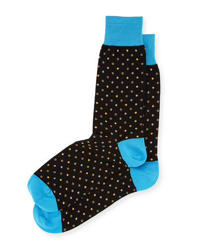 Dotted Cotton-Blend Socks