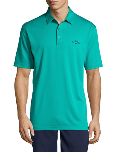 Embroidered Knit Polo Shirt