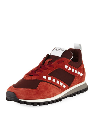 Men's Rockrunner Leather & Mesh Trainer Sneaker