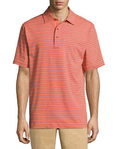 Fine Line Stripe-Print Polo Shirt