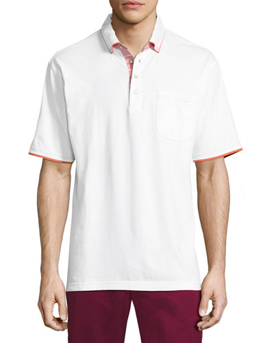 Liquid Cotton Contrast-Trim Polo Shirt