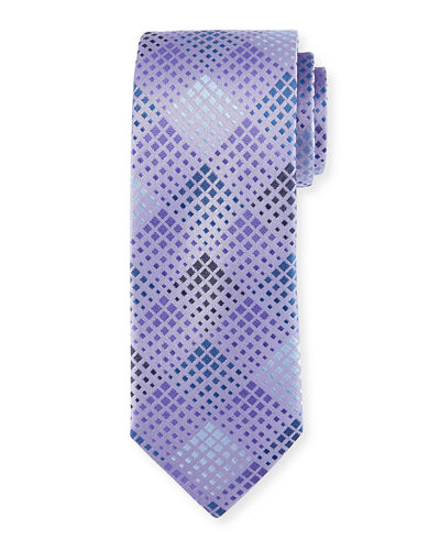 Diamond-Weave Silk Tie