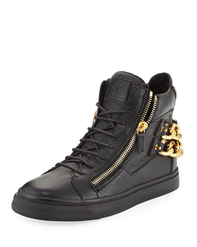 Men's Chain-Back High-Top Sneaker