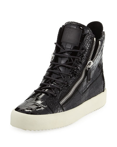Men's Leather High-Top Sneaker