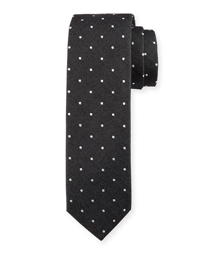 Banville Dot Print Cotton Tie