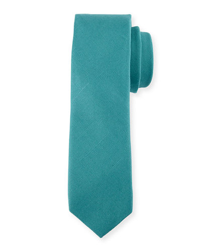 Village Solid Cotton-Blend Tie