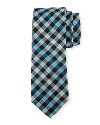 Odo Plaid Silk Tie