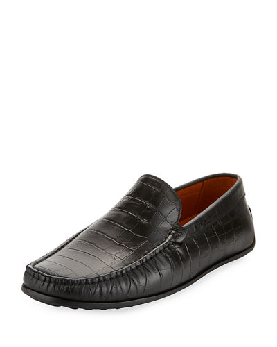 Iggy Crocodile-Embossed Loafer