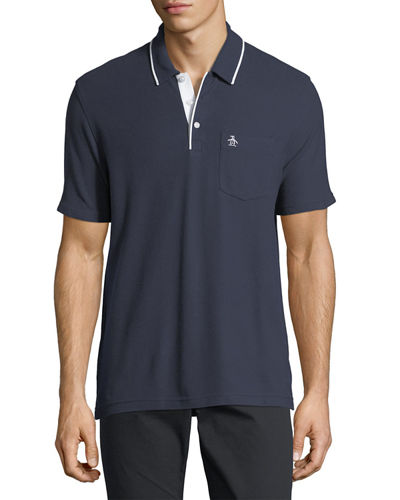 Contrast-Trim Cotton Polo Shirt