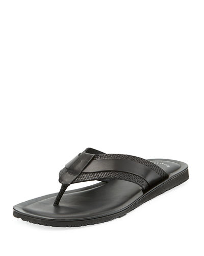 Woven Leather Thong Sandal