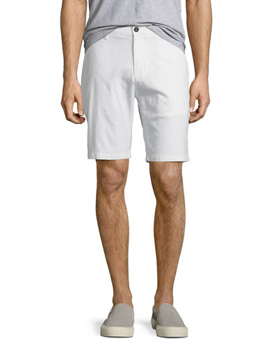 Cotton-Linen Tailored Shorts