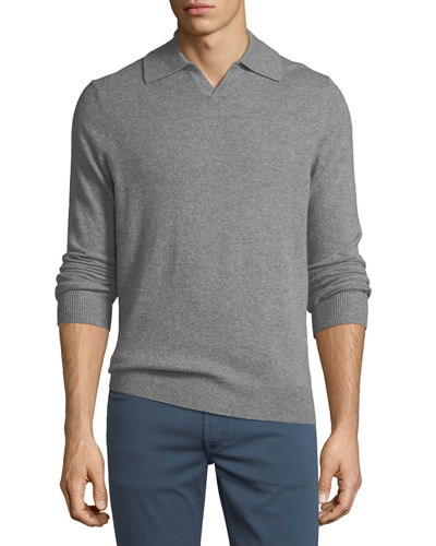 Cashmere Johnny Collar Sweater