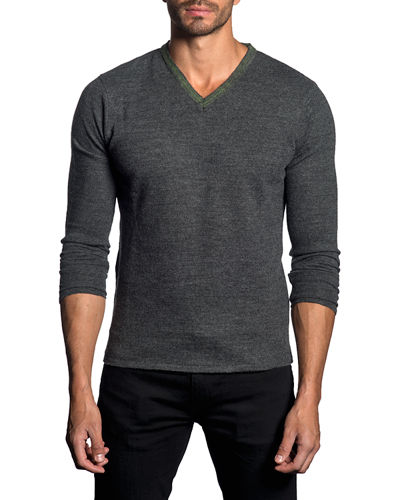 Wool V-Neck Sweater