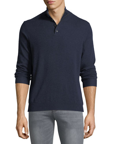 Cashmere Stand-Collar Sweater