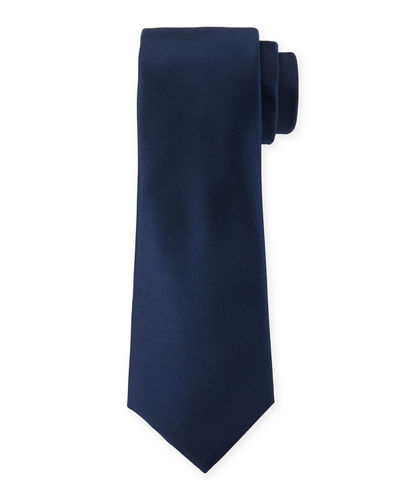 Solid Satin Dress Tie