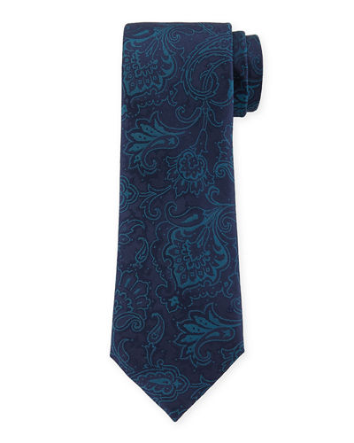 Tonal Paisley Silk Dress Tie