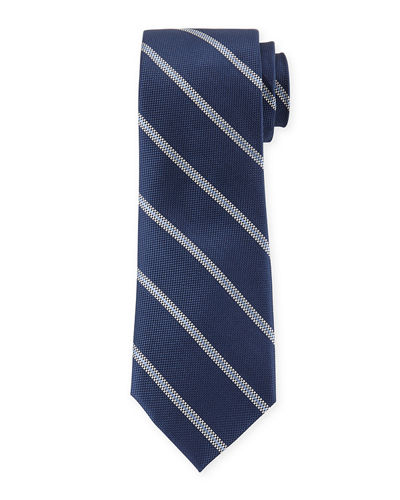 Track Striped Silk Dress Tie