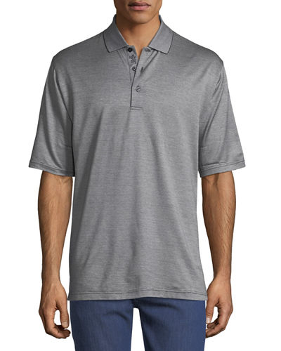 Heathered Cotton Polo Shirt