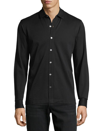 Piqué Cotton Sport Shirt