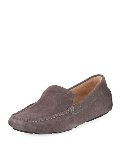 Stitched Suede Slip-On Driver