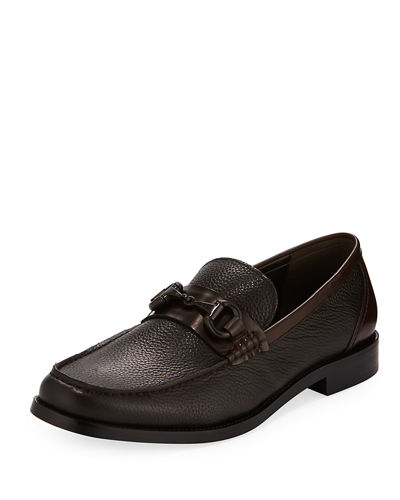 Design Pebbled Horsebit Loafer