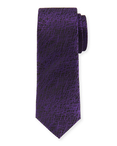 Graphic-Print Silk Tie