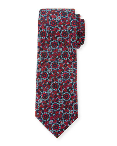 Medallion Silk Dress Tie