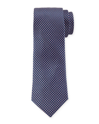 Basket Weave Silk Dress Tie