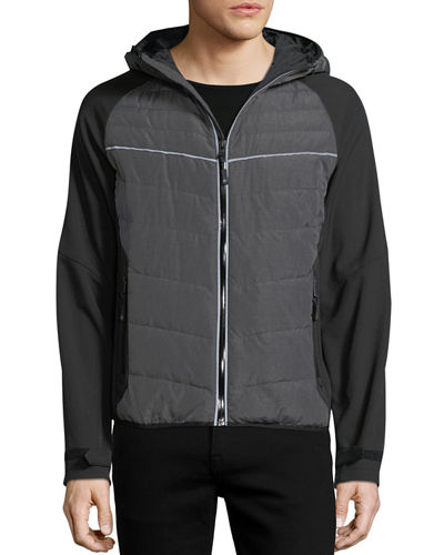 Quilted Utility Jacket w/ Hood