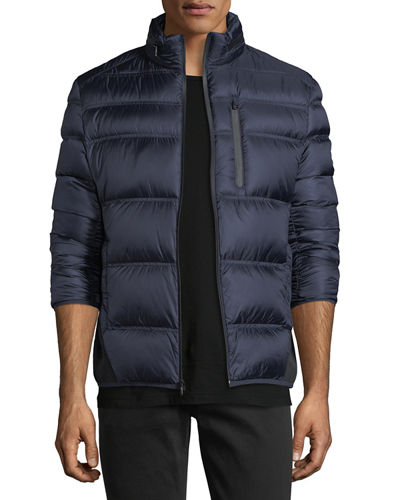 Quilted Stand-Collar Puffer Jacket