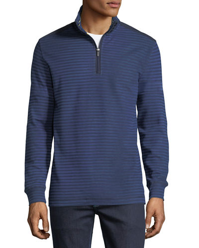 Stand Collar Long-Sleeve Pullover