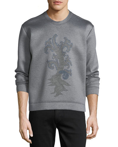 Scuba-Knit Graphic Sweatshirt