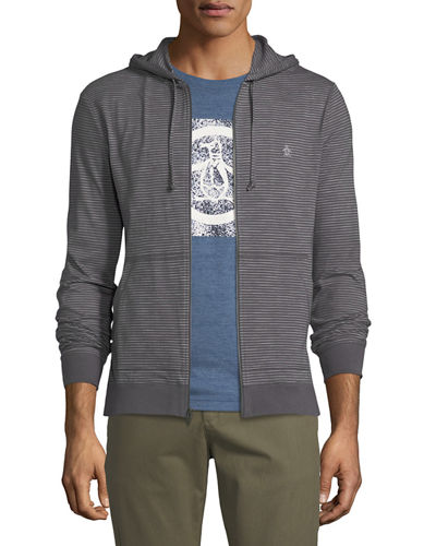 Feeder Striped Zip-Front Hoodie