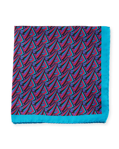 Multicolor Triangle Silk Pocket Square