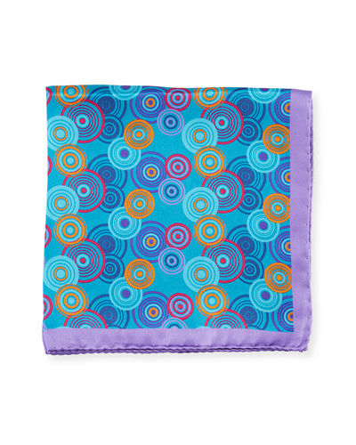 Multicolor Circle Silk Pocket Square