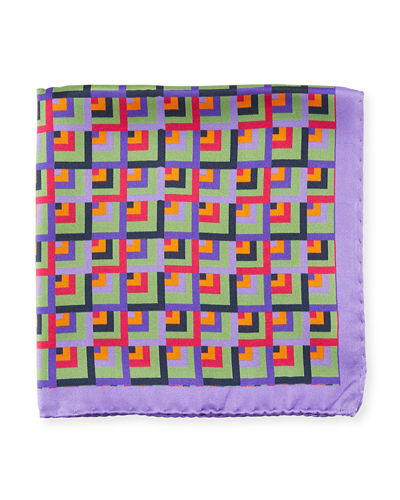 Multicolor Square Silk Pocket Square