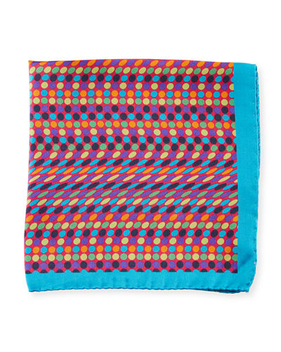 Multicolor Polka-Dot Silk Pocket Square