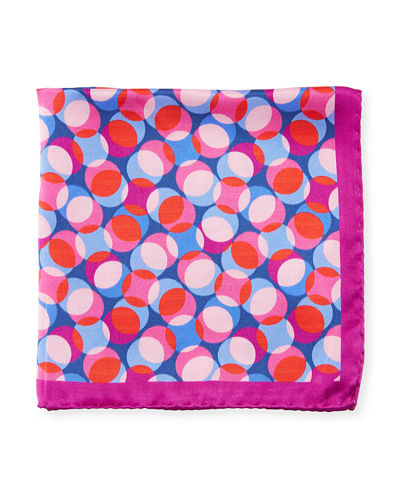 Geometric Pattern Silk Pocket Square