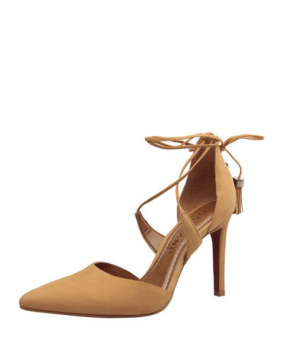 Hollie Leather Crisscross Pump
