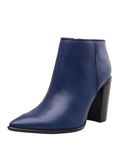 Noemi Leather Pointed Toe Bootie