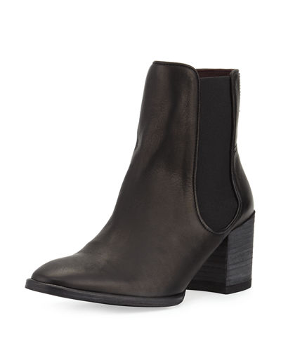 Tate Leather Stretch Bootie