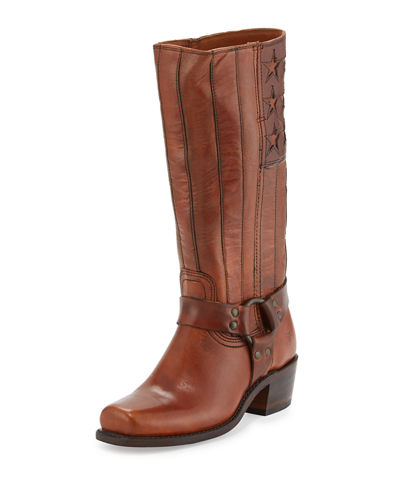Harness Americana Leather Knee Boot