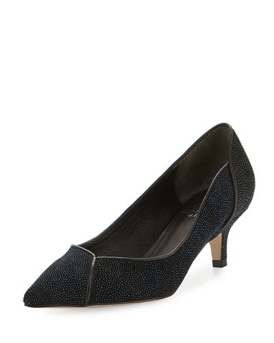 Lydia Manta Ray-Print Low-Heel Evening Pump