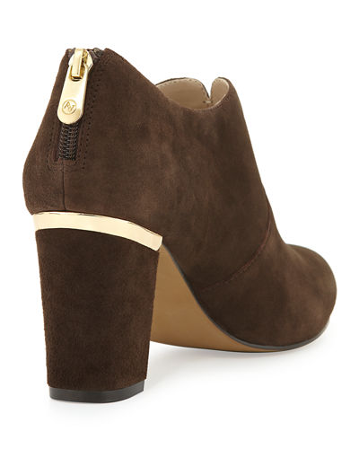 Katana Suede Gold-Trimmed Bootie