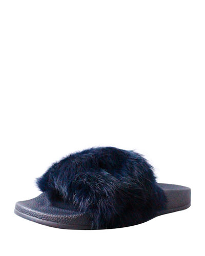 Cruise Rabbit Fur Slide Sandal