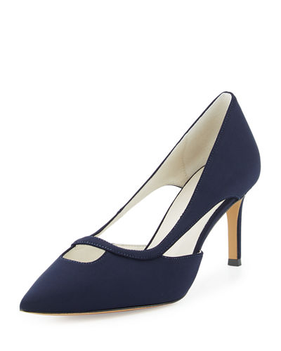 Alexa Cutout Pointed-Toe Pump