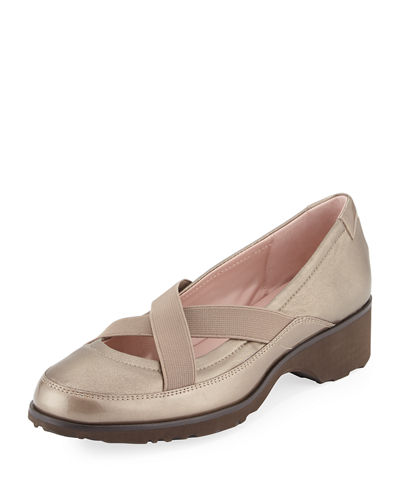 Twila Crisscross Leather Slip-On