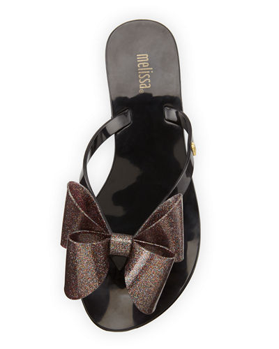 Harmonic Bow Jelly Thong Sandal
