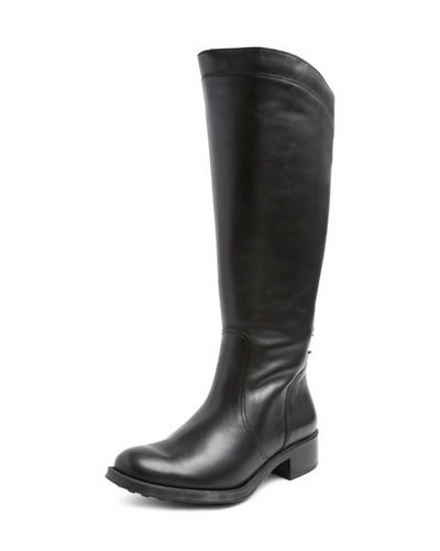 Saddle Up Water-Resistant Leather Riding Boot
